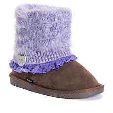 MUK LUKS Patti Kid's Knit Cuff Boot - Lavender