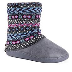 MUK LUKS Raquel Knit Cuff Slipper Boot