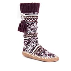 MUK LUKS Tassel Slipper Sock