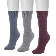 MUK LUKS Women's 3-pack Boot Socks