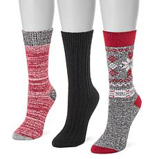 MUK LUKS Women's 3-pack Boot Socks