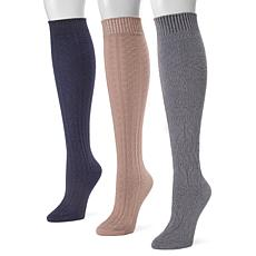 MUK LUKS Women's 3-pack Knee-High Socks