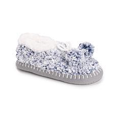 MUK LUKS® Women's Frosted Sherpa Pom Ballerina Slippers