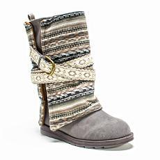 MUK LUKS® Women's Nikki Water-Resistant Boots - Grey Stripe