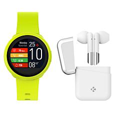 MyKronoz ZeRound3 Lite Smartwatch with Wireless ZeBuds