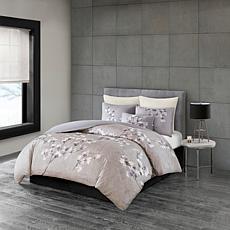 N Natori Sakura Blossom 3-piece Cotton Sateen King Comforter Set