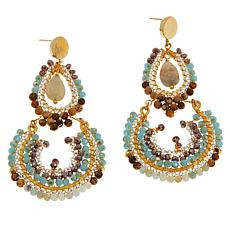 Nakamol Beaded Double-Drop Earrings