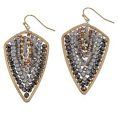 Nakamol Multi-Color Arrowhead Drop Earrings