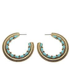 "Nancy LeWinter ""Desert Glam"" Hoop Earrings"