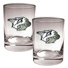 Nashville Predators 2pc Rocks Glass Set