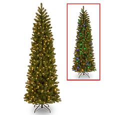 National Tree 6.5' Feel Real® Downswept Fir Pencil Tree w/ 300 LEDs