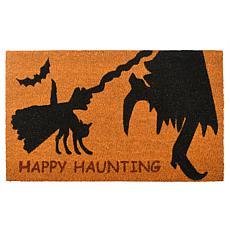 "National Tree Company 30"" ""Happy Haunting"" Orange and Black Doormat"