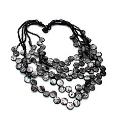 Natural Beauties Coconut Shell Bead Cascading 5-Strand Necklace