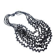 Natural Beauties Coconut Shell Bead Cascading 7-Strand Necklace