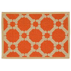 "Natural Jute Pet Placemat 13"" x 9"" - Orange"