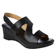Naturalizer Valerie Leather Wedge Sandal