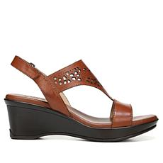 Naturalizer Veda Leather Wedge Slingback Sandal