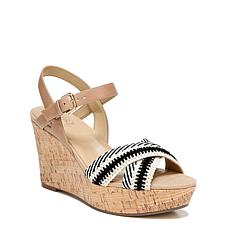 Naturalizer Zia Ankle Strap Wedge Sandal