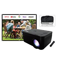 """NAXA 150"""" LCD Projector with Built-In DVD Player and Screen"""