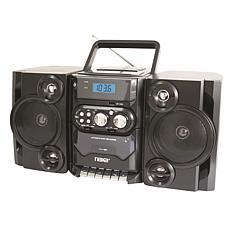 Naxa Portable MP/CD/USB Player with Stereo Radio & Cassette Recorder