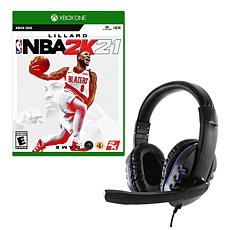 NBA 2K21 Game for Xbox with Universal Headset