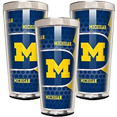 NCAA 3-piece Shot Glass Set - Michigan