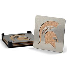 NCAA Boasters 4-Piece Coaster Set - Michigan State Spartans
