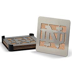 "NCAA Boasters 4-piece Coaster Set - Notre Dame Fighting Irish ""ND"""