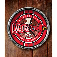 NCAA Chrome Clock - Louisville