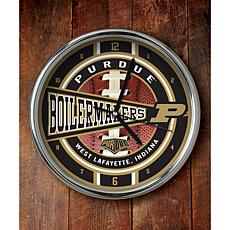 NCAA Chrome Clock - Purdue
