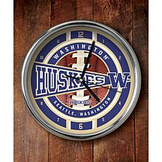 NCAA Chrome Clock - Washington