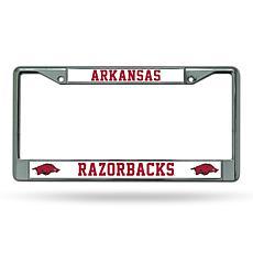 NCAA Chrome License Plate Frame - Arkansas