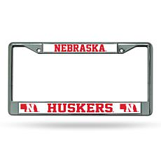 NCAA Chrome License Plate Frame - Nebraska
