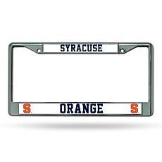 NCAA Chrome License Plate Frame - Syracuse