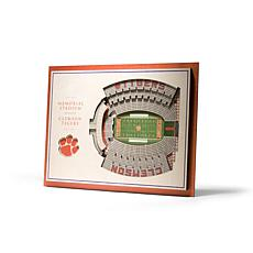 NCAA Clemson Tigers StadiumViews 3-D Wall Art - Memorial Stadium