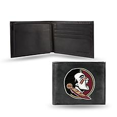 NCAA Embroidered Leather Billfold Wallet - Florida State