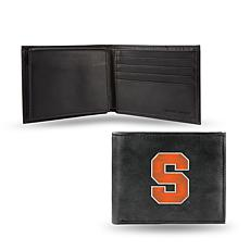 NCAA Embroidered Leather Billfold Wallet - Syracuse