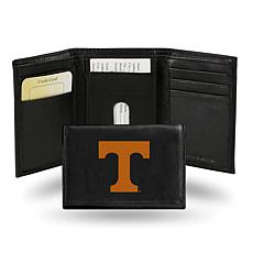 NCAA Embroidered Leather Trifold Wallet - Tennessee