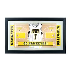 NCAA Framed Basketball Jersey Mirror - Iowa