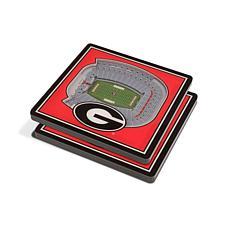 NCAA Georgia Bulldogs 3-D Stadium Views Coaster Set