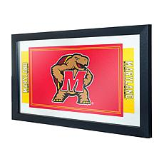 NCAA Logo and Mascot Framed Mirror - Maryland