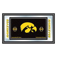 NCAA Logo and Mascot Framed Mirror - University of Iowa