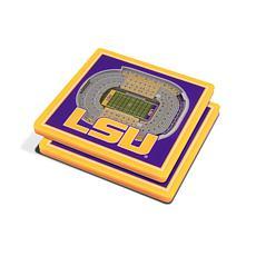 NCAA LSU Tigers 3-D Stadium Views Coaster Set