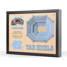NCAA NC Tar Heels StadiumViews 3-D Wall Art - Dean E. Smith Center