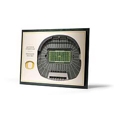 NCAA Oregon Ducks StadiumViews 3-D Wall Art - Autzen Stadium