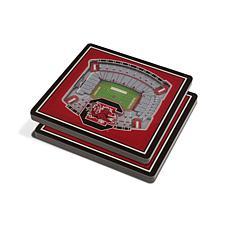 NCAA South Carolina Gamecocks 3-D Stadium Views Coaster Set