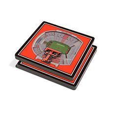 NCAA Texas Tech Red Raiders 3-D Stadium Views Coaster Set