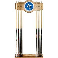 NCAA Wood and Mirror Wall Cue Rack - Air Force