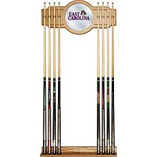 NCAA Wood and Mirror Wall Cue Rack - East Carolina