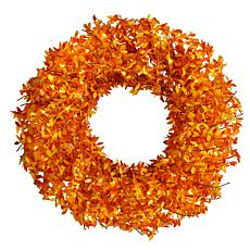 """Nearly Natural 24"""" Harvest Fall Pre-Lit Wreath with 100 Micro-Dot LED"""